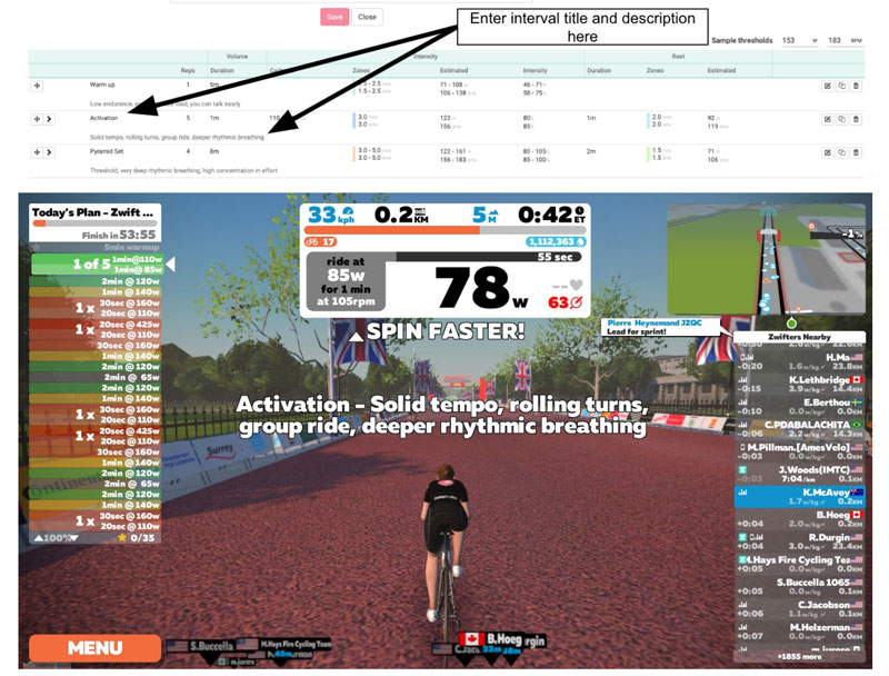 Today's Plan workout in Zwift