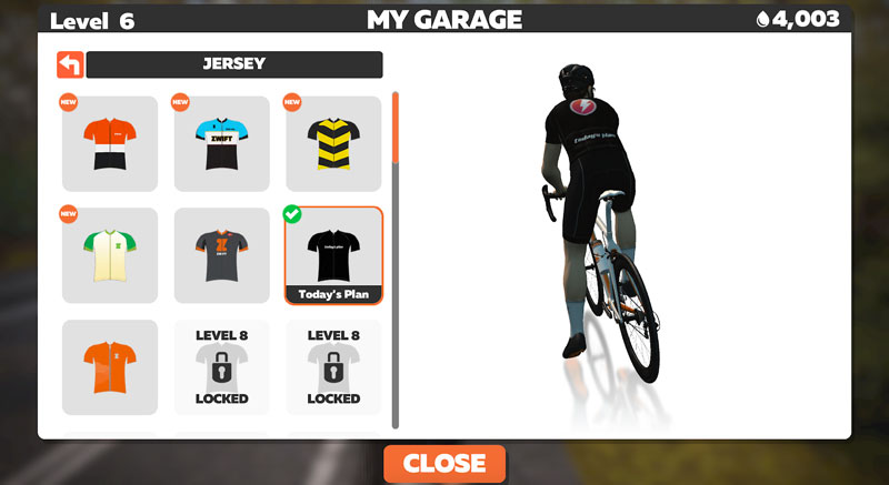 Today's Plan jersey in Zwift